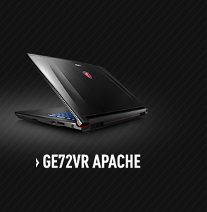 MSI GE72VR Apache Gaming Laptop with nVidia GTX 1060