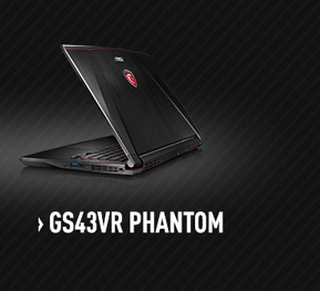 MSI GS43VR Apache Gaming Laptop with nVidia GTX 1060