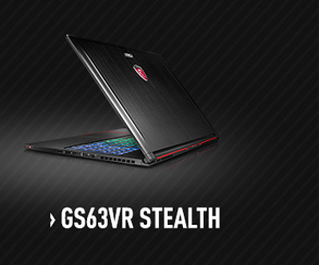 MSI GS63VR Stealth Gaming Laptop with nVidia GTX 1060