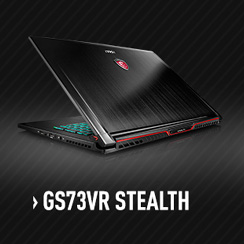 MSI GS73VR Stealth Gaming Laptop with nVidia GTX 1060